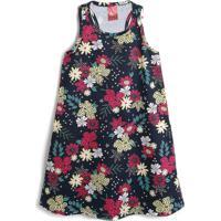 Vestido Elian Floral Preto/Rosa