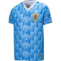 Camisa Uruguai Retrô 1988 Masculino - Masculino-Azul