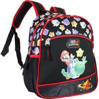 Mochila Infantil Super Mario Cg29860 Preta