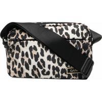 Ganni Festival Leopard-Print Crossbody Bag - Neutro