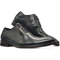 Sapato Social Oxford Masculino Bico Arredondado Sola Couro Mod 2001 Preto