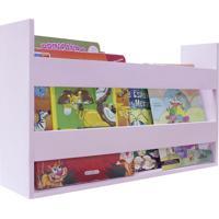 Porta Livros E Revistas De Parede 50X30X11 Rosa Baby