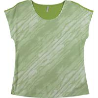 Blusa Com Decote Redondo Verde