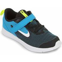 Tênis Infantil Nike Downshifter 9 Velcro Tdv - Unissex-Preto