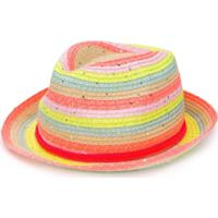 Billieblush Striped Sun Hat - Amarelo