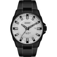 Relógio Orient Masculino Mpss1021 S1Px Pulseira E Caixa Aço Preta Mostrador Branco