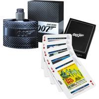 Coffret James Bond 007 Masculino: Perfume Eau De Toilette 50Ml + Jogo De Cartas