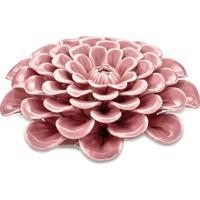 Flor Decorativa Em Camadas- Rosa Claro- 3,5Xø10Cm