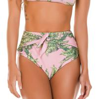 Calcinha Hot Pant Floral- Rosa Claro & Verde- Fleeuse Flee