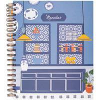 Caderno De Receitas Capri Em Papel 1 Peça - Azul