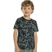 Camiseta Infantil Tropical Verde