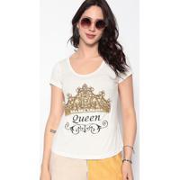 """Blusa """" Queen"""" - Off White & Dourada- Cavallaricavalari"""