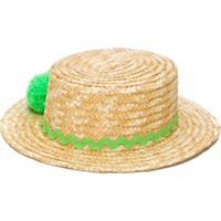 Piccola Ludo Pom-Pom Detail Hat - Neutro
