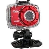 Câmera De Ação Vivitar Full Hd Com Caixa De Estanque, Vermelho - Dvr787Hd