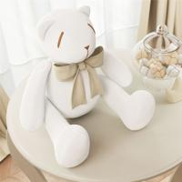 Urso Branco Laã§O Bege 25Cm Grã£O De Gente Bege - Bege - Dafiti