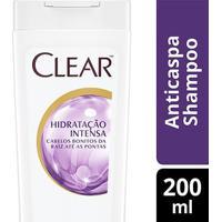 Shampoo Anticaspa Clear Women Hidratação Intensa 200Ml - Feminino-Incolor