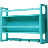 Armario Aereo Gourmet Troia Estrutura Azul 86Cm - 61424 - Sun House