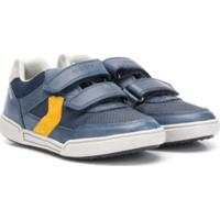 Geox Kids Tênis Color Block Com Velcro - Azul