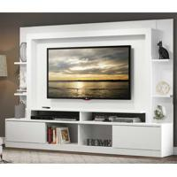 """Home Theater Moscou P/Tv Ate 65"""""""" C/Suporte Universal Branco Acet. Tx"""
