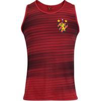 Camiseta Regata Do Sport Recife Fast Line - Masculina - Vermelho/Preto