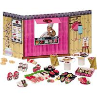 Barbie Massinha Food Truck Comida Japonesa E Sushi - Fun Divirta-Se Rosa