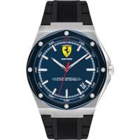Relógio Scuderia Ferrari Masculino Borracha Preta - 830605