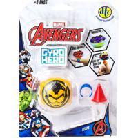Pião De Batalha - Giro Hero - Disney - Marvel - Avengers - Vespa - Dtc