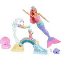 Boneca Barbie Dreamtopia Escola De Sereias Com Acessórios Mattel - Feminino-Rosa