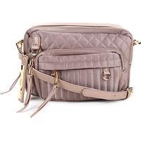 Bolsa Santa Lolla Handbag Nylon Matelassê Feminina - Feminino-Marrom Claro
