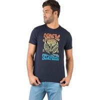 Camiseta Taco Estampada Masculina - Masculino-Marinho