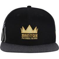 Boné Aba Reta Do Santos New Era 950 Of Reflect - Snapback - Adulto - Preto 8090901c0cf