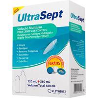 Solução Multiuso Para Lentes De Contato Ultrasept 480Ml