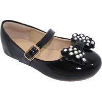 Sapato Boneca - Preto & Branca- Luluzinhaluluzinha
