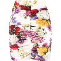 Dolce & Gabbana Saia Floral Com Franzidos - Estampado