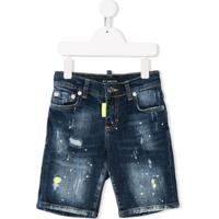My Brand Kids Short Jeans Destroyed - Azul