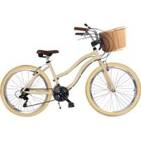 Bicicleta Retrô Alumínio Cestinha Bike Vintage Retro - Unissex