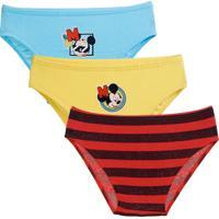 Kit 3 Cuecas Infantil Mickey Disney