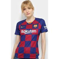 Camisa Barcelona Home 19/20 S/Nº Torcedor Nike Feminina - Feminino