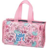 Bolsa Com Trocador Para Boneca Baby Alive Ballet Rosa