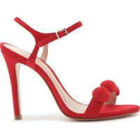 Sandália Stiletto Nobuck Fun Red | Schutz