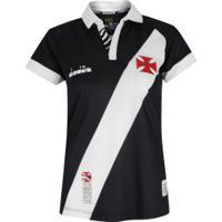 Camisa Do Vasco Da Gama I 2019 Diadora - Feminina - Preto
