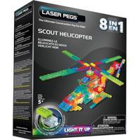 Blocos De Montar Laser Pegs Helicóptero Patrulheiro 8 Em 1 Azul