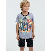 Pijama Infantil Super Heróis Liga Da Justiça