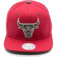 a364ff8a6 Netshoes  Boné Mitchell   Ness Shell Nba Chicago Bulls Aba Reta - Unissex