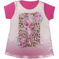 Blusa Look Jeans C/ Silk Pink