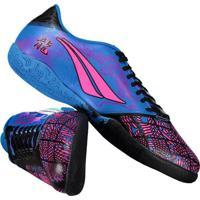 6c573d749f Chuteira Penalty Victoria Dragon Vii Futsal Azul E Rosa