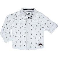 Camisa Abstrata- Branca & Pretatip Top