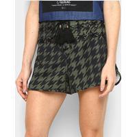 Shorts Lança Perfume Low Comfort Cintura Alta Feminino - Feminino-Verde