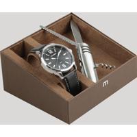 Kit De Relógio Analógico Mondaine Masculino + Canivete - 76635G0Mvnh2Kd Preto - Único