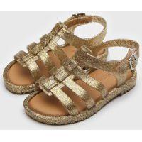 Sandália Mini Melissa Infantil Flox Dourada